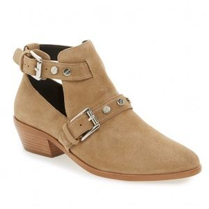 Rebecca Minkoff Abigail Suede Ankle cutout booties